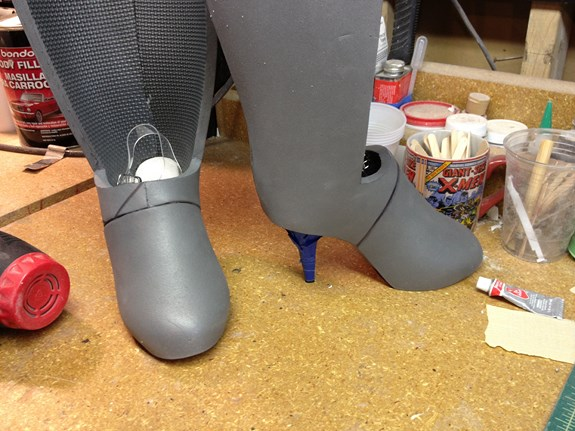 Long Fall Boots - Backs Attached