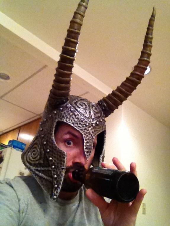 Draugr Helm Painted Horns Beer