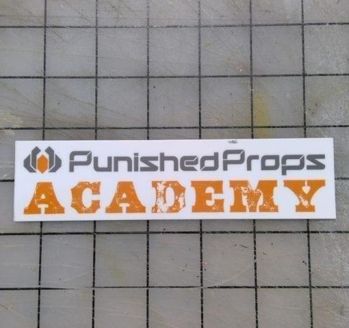 Punished Props Academy Logo Sticker