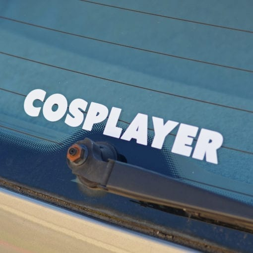 Cosplayer Sticker Cosplay Decal